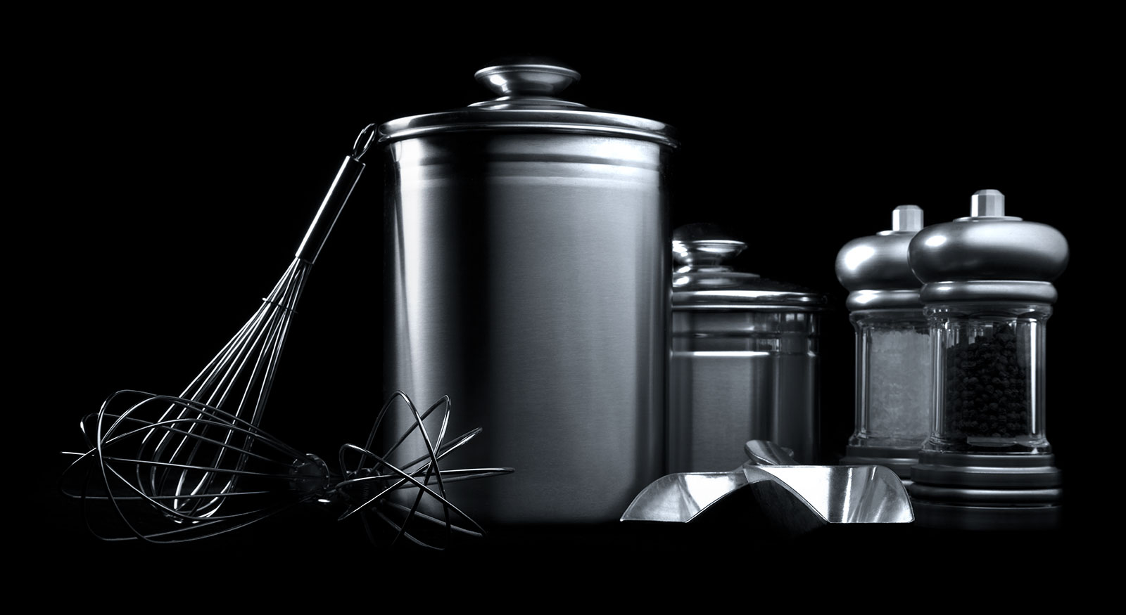 Stainless Steel Kitchenware Product Studio Photography
